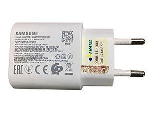 Carregador Samsung Turbo 30w usb EP-TA600 ZTD BRANCO Micro usb v8