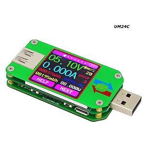 Medidor de Tensão corrente e voltagem Com Bluetooth Um24C