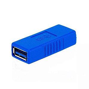 Adaptador USB Femea 3.0 Azul
