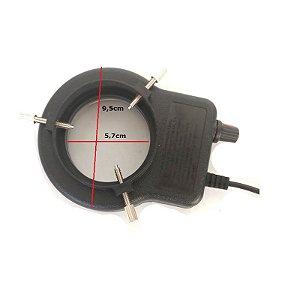 Lampada Microscopio USB 32 LED Ajustável Preto Bivolt