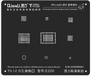 Stencil 3D Black Base Band iPhone 6S Qianli