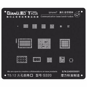 Stencil Black Base Band iPhone 7 Qianli