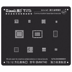 Stencil Black Base Band iPhone 6 Qianli