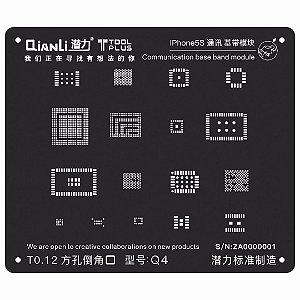 Stencil Black Base Band iPhone 5s Qianli