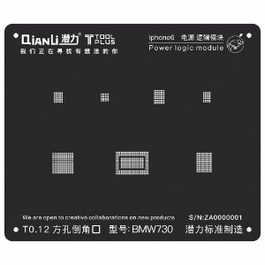 Stencil Black Power Logic iPhone 6 Qianli