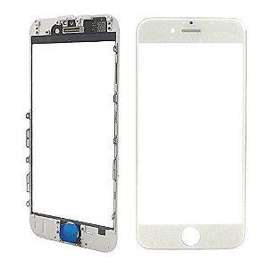 Vidro Frontal Iphone 6S 5.5 Branco Com Moldura