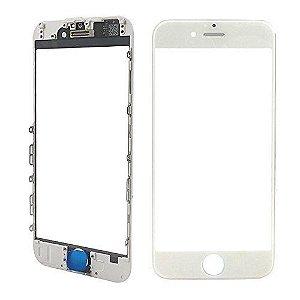 Vidro Frontal Iphone 7 4.7 Branco Com Moldura