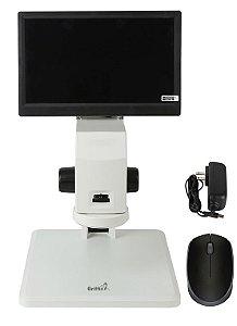 Microscópio HDMI profissional com tela 28cm GF 200DP