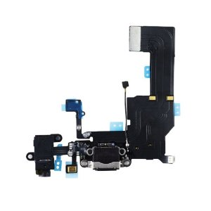 Flex conector de carga iPhone 5C Preto