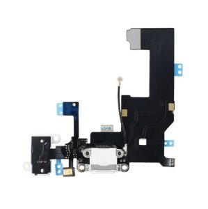 Flex conector de carga iPhone 5G Branco