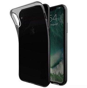 Capa Ultrafina iPhone X XS  Preta Fume Silicone