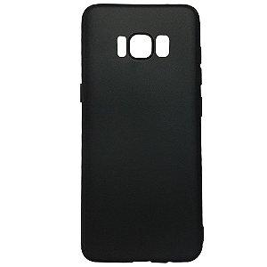 Capa Ultrafina Samsung S8 Preta Fume Silicone