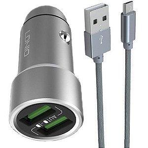 Carregador Veicular H302 3.6  2 USB V8