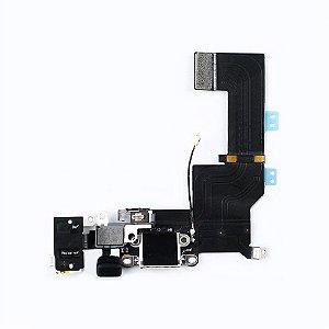 Flex conector de carga iPhone 5S Branco