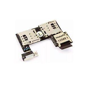Flex conector de chip sim micro sd vibra moto g2