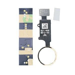 Botão Home Universal iphone 6 á 8plus Dourado