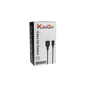Cabo dados Kingo v8 micro usb preto 1m