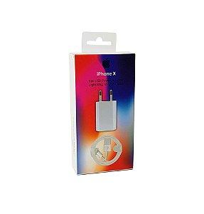 Carregador Parede Slim Cabo USB Lightning iPhone X