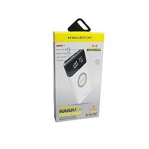 Carregador Portátil Power Bank Wireless Hmaston 10000mha H-999 branco