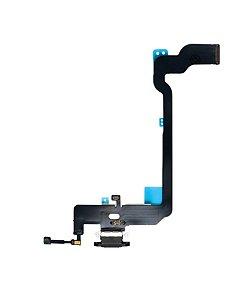 Flex conector de carga iPhone XS Preto
