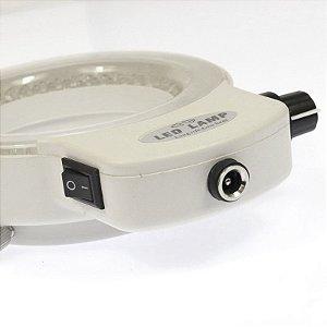 Lâmpada Anel de Luz Branca FYSCOPE 144 Ajustável Bivolt