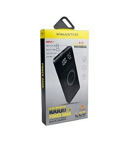 Carregador Power Bank Wireless Hmaston 10000mha H-999 preto