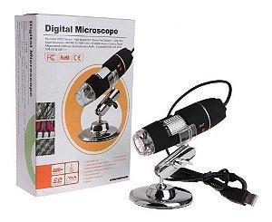 Microscopio Digital USB KNUP Com Iluminação A Led 1000X KP-8012