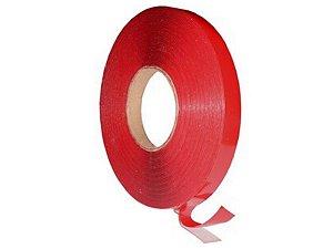 Fita Adesiva Dupla Face 8mm Vermelha Rolo 30mts