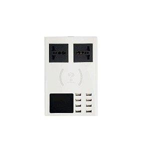 Carregador USB Medidor De Corrente E Tensão 8 portas CD-A10
