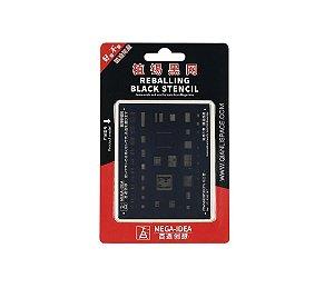 Stencil Mega idea Black iPhone 8 8Plus X