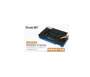 Suporte Placa Stencil Reballing Qianli middle Frame iPhone 11
