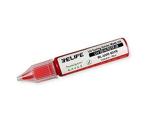 Tinta Uv Pcb Mascara Uv Relife Rl-Uvh901R 10Cc vermelho