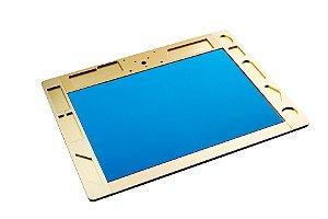 Manta Tapete Base Plataforma Aluminio Microscopio TE 507 Dourada