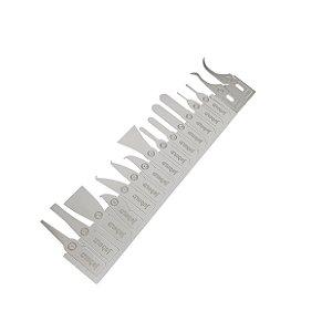 Kit espatula flexivel Jabe 0.1mm 16 peças