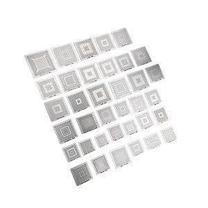 Kit De Stencil Para Reballing E Bga 36 Peças