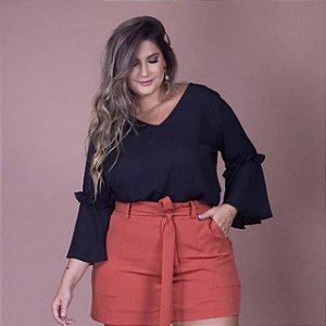 Blusa Lisa Manga
