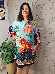 Vestido Floral Trapézio