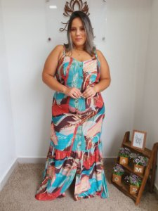 Vestido Longo Saia Babado