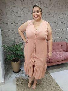 Vestido Midi Babado