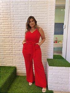 Macacão Pantalona Vermelho QB