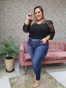 Calça Jeans Cigarrete Estonada