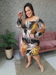 Vestido Lastex Busto/Ombro