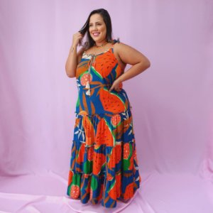 Vestido Maxi Dress Alça Lisa