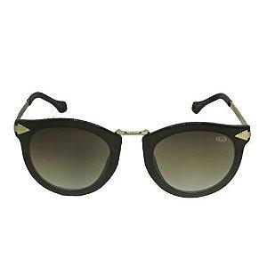 Óculos de Sol Redondo Marrom 00338