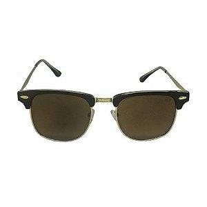 Óculos de Sol Retrô Dourado