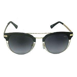 Óculos de Sol Redondo Preto e Dourado 1985