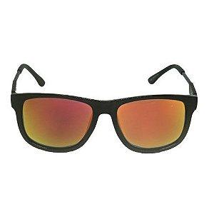 Óculos de Sol Retrô Preto Amaderado