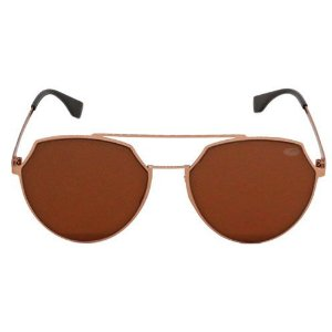Óculos de Sol Redondo Bronze