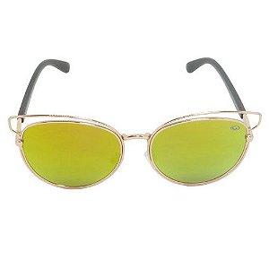 Óculos de Sol Gatinho Dourado e Marrom