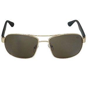 Óculos de Sol Esportivo Dourado